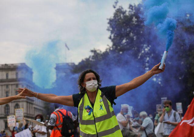 Una manifestación contra la violencia policial en Londres