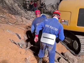 Así trabajan los rescatistas rusos tras la explosión en Beirut