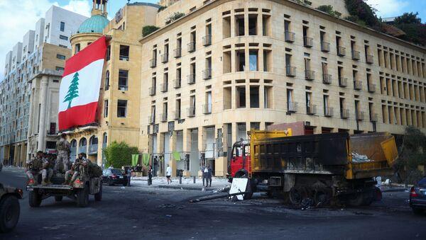 Las calles de Beirut después de las protestas antigubernamentales - Sputnik Mundo