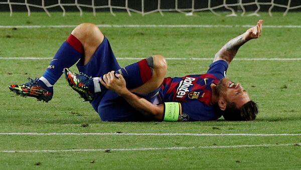 Lionel Messi, el delantero del FC Barcelona - Sputnik Mundo