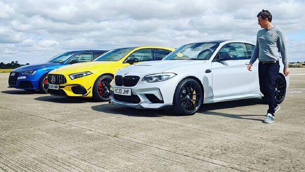 La carrera de aceleración entre el BMW M2 CS, el AMG A45 S y el Audi RS3 - Sputnik Mundo