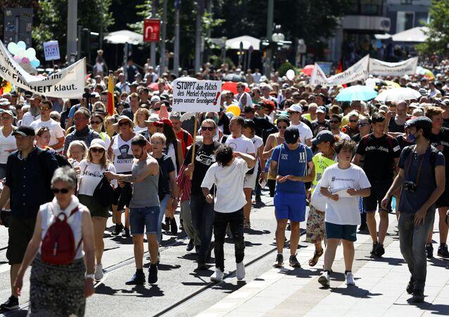 Una manifestación por las medidas contra el COVID-19 en Alemania (archivo)