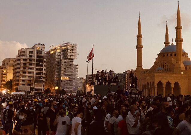 Protestas antigubernamentales en El Líbano