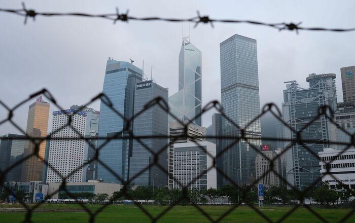 Vista general de los edificios en Hong Kong