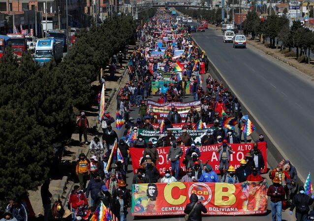 Protestas en demanda de elecciones en Bolivia (archivo)