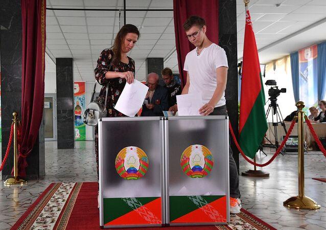 Un colegio electoral de Minsk