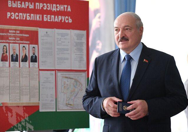 Alexandr Lukashenko, presidente de Bielorrusia, en las elecciones presidenciales
