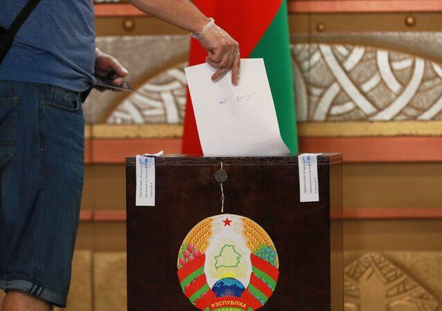 Votación en las elecciones presidenciales en BIelorrusia
