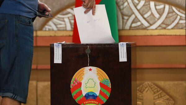 Votación en las elecciones presidenciales en BIelorrusia - Sputnik Mundo
