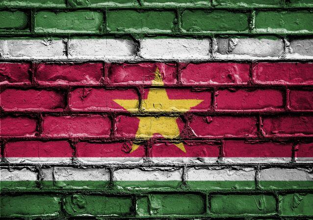 La bandera de Surinam (imagen referencial)
