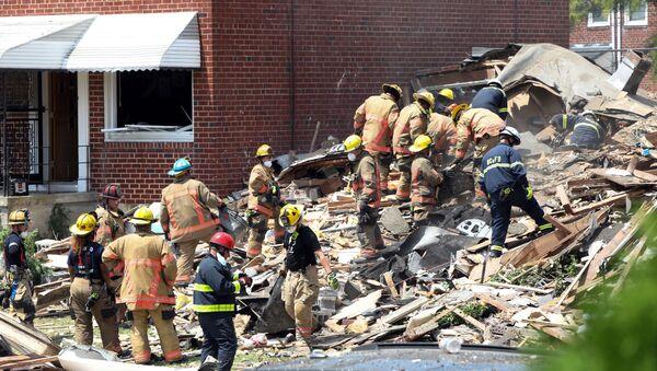 Consecuencias de la explosión de gas en Baltimore  - Sputnik Mundo