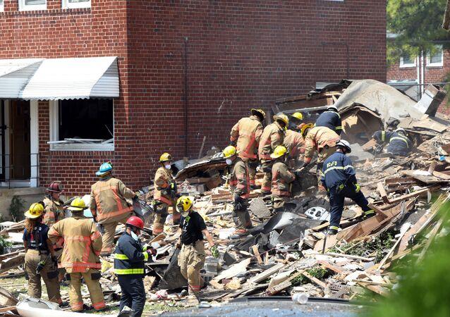 Consecuencias de la explosión de gas en Baltimore