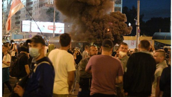 Las protestas en Bielorrusia tras las elecciones presidenciales - Sputnik Mundo