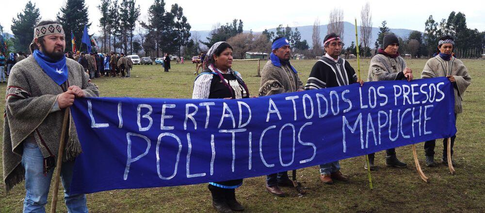 Pedido de libertad a los presos políticos mapuche