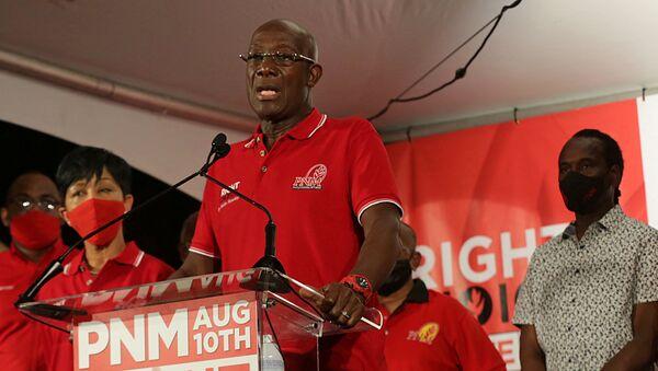 Keith Rowley, primer ministro de Trinidad y Tobago - Sputnik Mundo