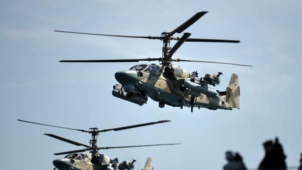 Helicópteros Ka-52 Alligator (archivo) - Sputnik Mundo