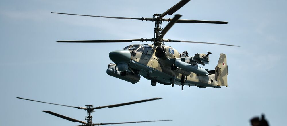 Helicópteros Ka-52 Alligator (archivo)