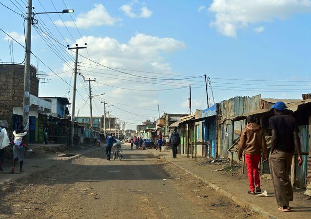Una de las calles de Kayole, Nairobi