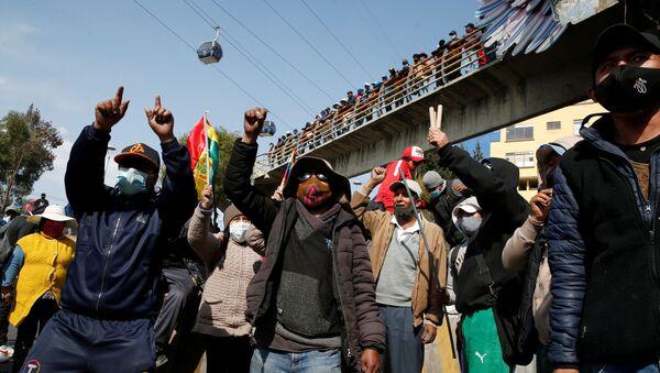 Manifestaciones y bloqueos en Bolivia - Sputnik Mundo