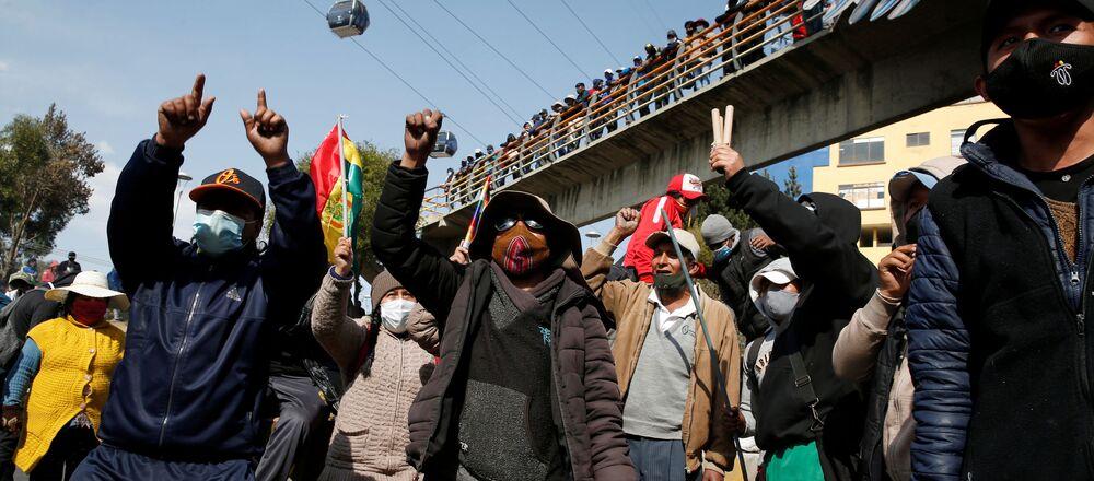 Manifestaciones y bloqueos en Bolivia