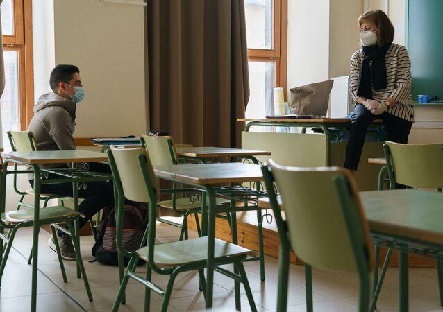 Un estudiante español (imagen referencial)