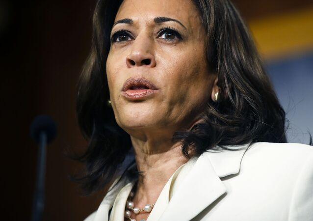 Kamala Harris, senadora estadounidense y candidata a la vicepresidencia