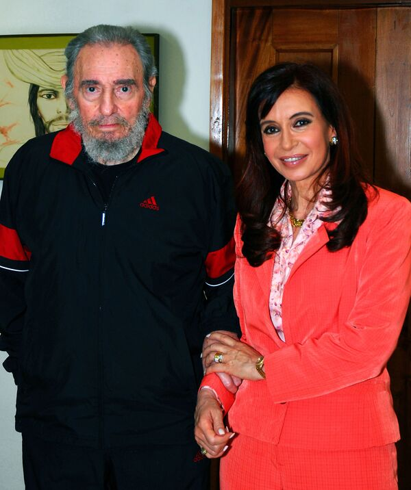 Fidel Castro y Cristina Fernández de Kirchner, en 2009 en Argentina - Sputnik Mundo