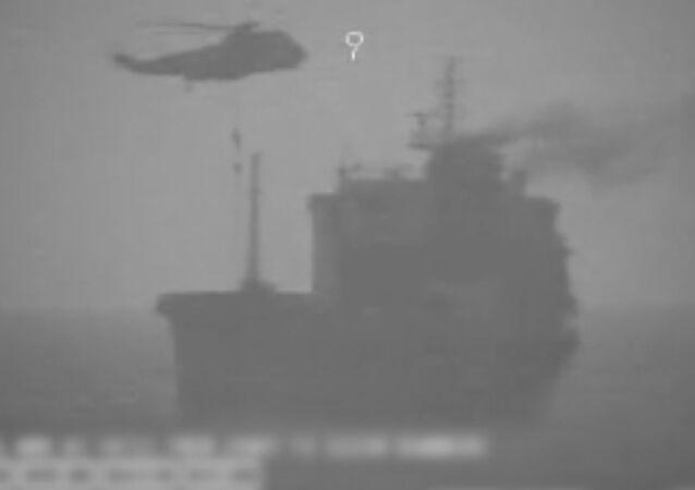 Captura de pantalla del vídeo compartido por CENTCOM de EEUU