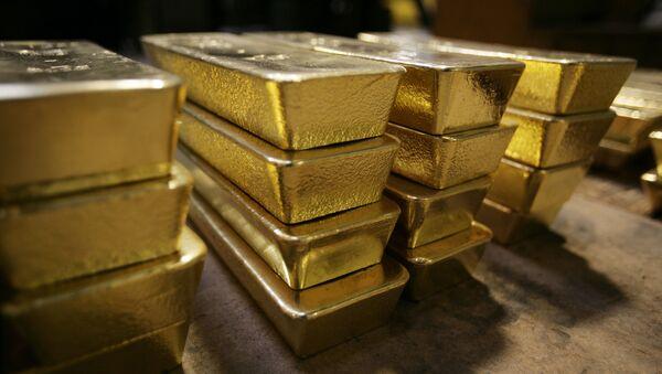 Lingotes de oro suizos (archivo) - Sputnik Mundo
