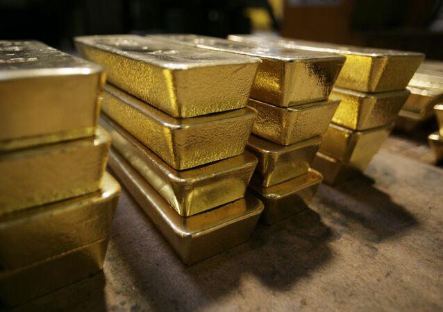 Lingotes de oro suizos (archivo)