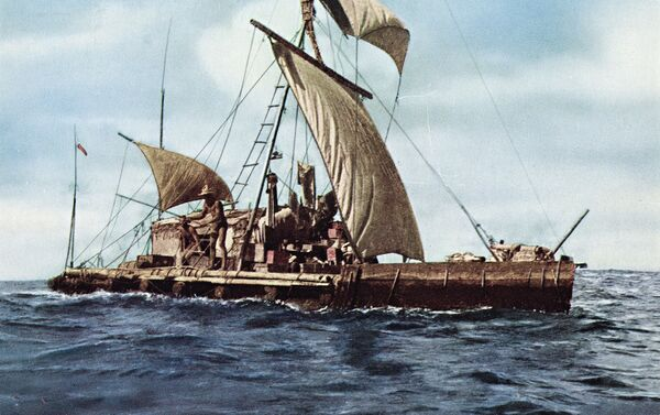 Expedición Kon-Tiki en 1947 - Sputnik Mundo