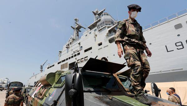 Soldados franceses en Beirut, el Líbano - Sputnik Mundo
