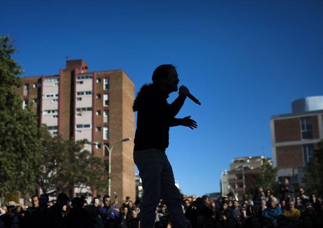 Pablo Iglesias, líder de Podemos. Barcelona, 2019