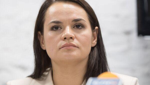 Svetlana Tijanóvskaya, excandidata opositora a la presidencia de Bielorrusia - Sputnik Mundo