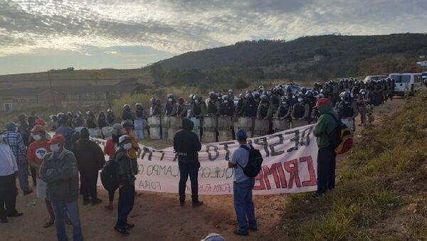 Desalojo de 450 campesinos en Minas de Gerais (sur), Brasil, por parte de la Policía militar - Sputnik Mundo