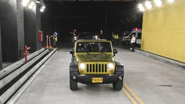 Iván Duque en la inauguración del Túnel de Oriente, Colombia - Sputnik Mundo