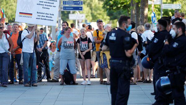 Protestas contra las medidas anti-COVID en Alemania (archivo) - Sputnik Mundo