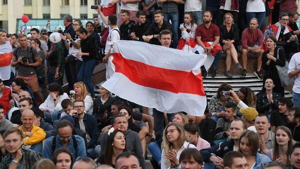 Una manifestación antigubernamental en Bielorrusia - Sputnik Mundo
