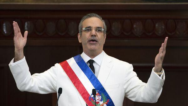 Luis Abinader, presidente de la República Dominicana - Sputnik Mundo