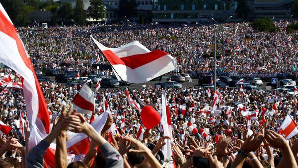 Manifestación de protesta en Minsk - Sputnik Mundo