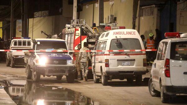 Lugar del ataque en Mogadiscio - Sputnik Mundo