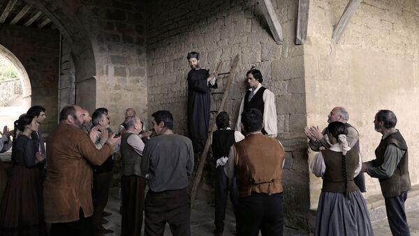 Fotograma de la película 'Handia', que cuenta la vida de 'El Gigante Español' - Sputnik Mundo