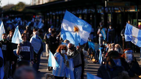 Protestas en Buenos Aires, Argentina - Sputnik Mundo