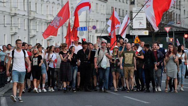 Protestas antigubernamentales en Bielorrusia - Sputnik Mundo
