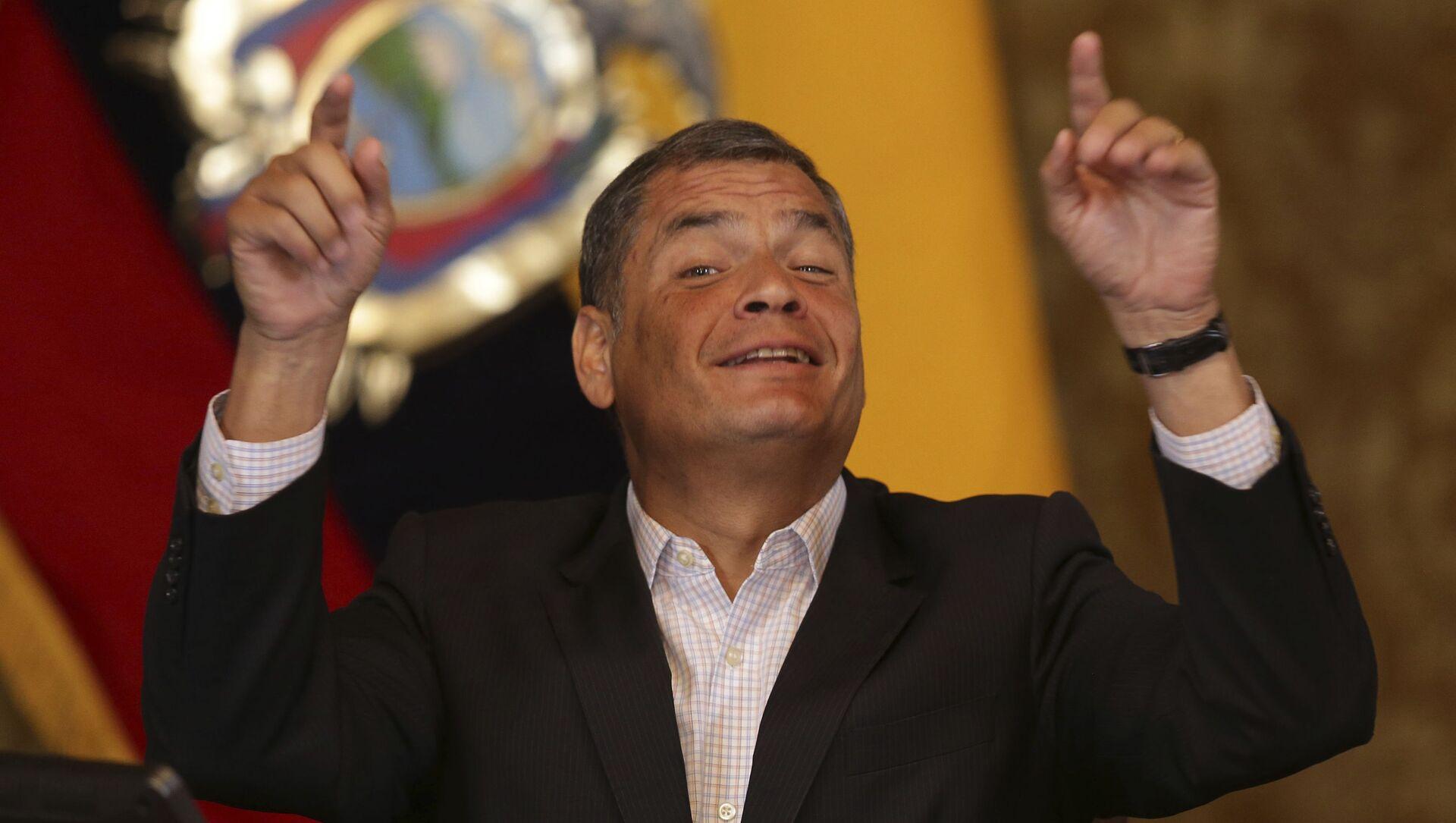 Rafael Correa, expresidente de Ecuador (archivo) - Sputnik Mundo, 1920, 08.02.2021