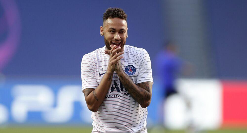 El futbolista brasileño del Paris Saint Germain, Neymar Jr
