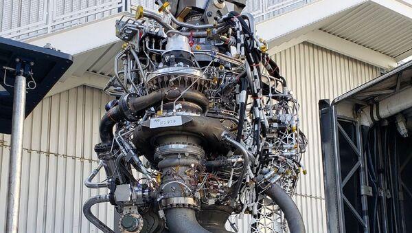 Un motor Raptor de SpaceX - Sputnik Mundo