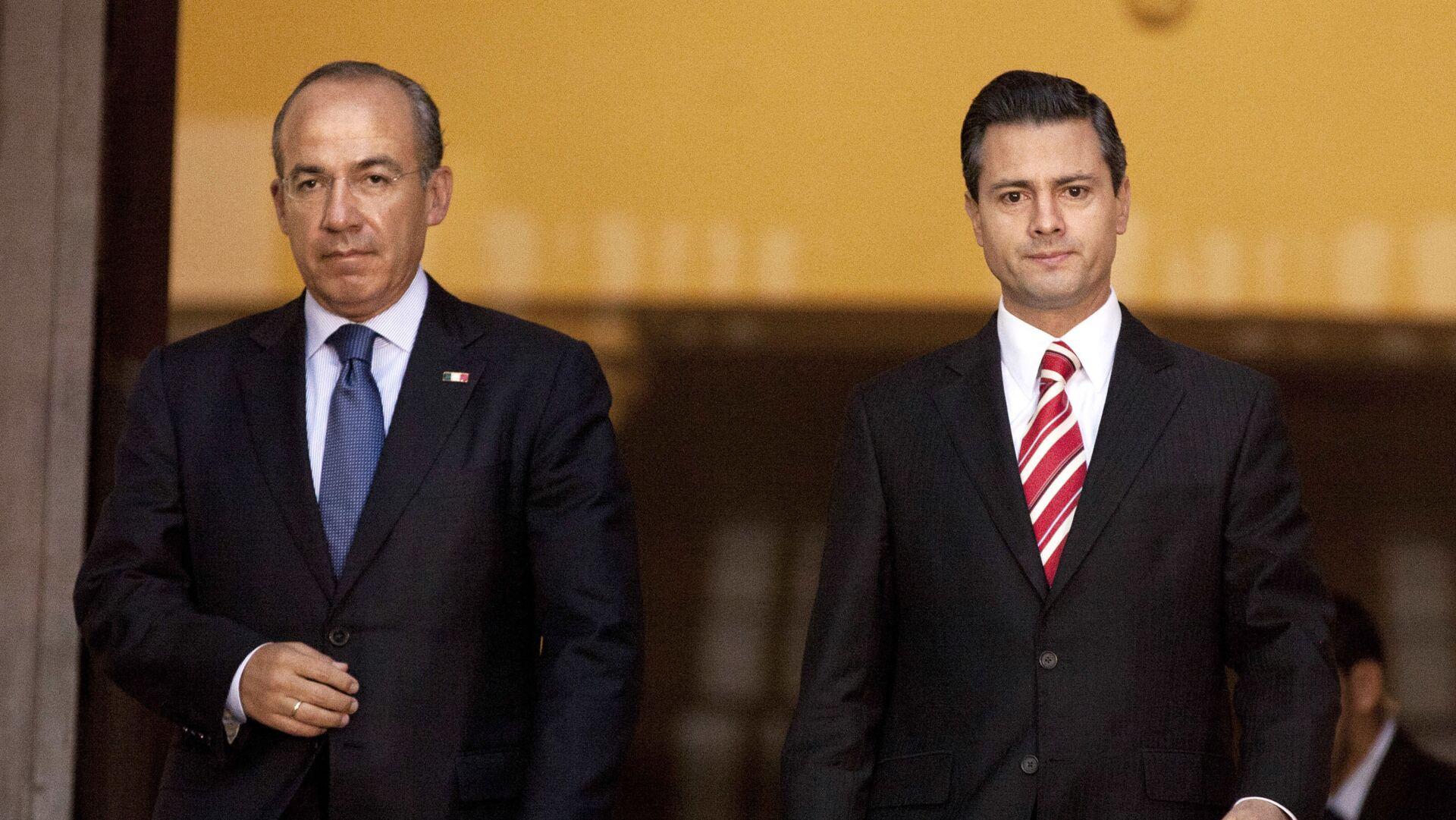 Felipe Calderón Hinojosa y Enrique Peña Nieto, expresidentes de México - Sputnik Mundo, 1920, 01.07.2021