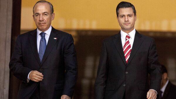 Felipe Calderón Hinojosa y Enrique Peña Nieto, expresidentes de México - Sputnik Mundo