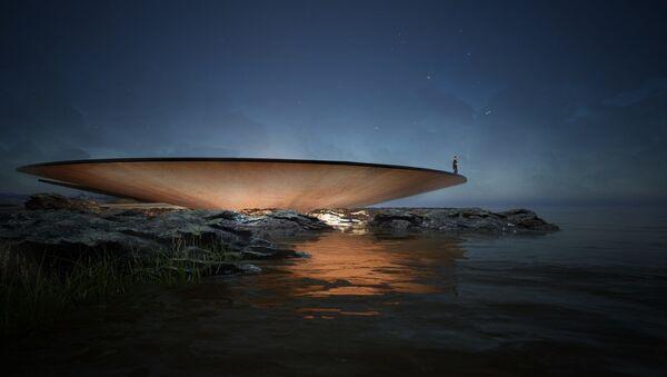 Imagen del 'Memorial Mundial de la Pandemia' proyectado en la costa de Montevideo, Uruguay - Sputnik Mundo